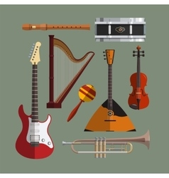 Musical instruments collection Music icon vector image vector image