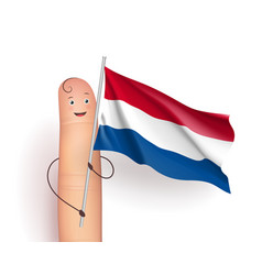 Netherlands waving flag vector