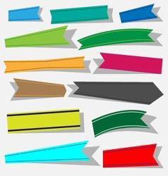 Paper ribbon icons set vector
