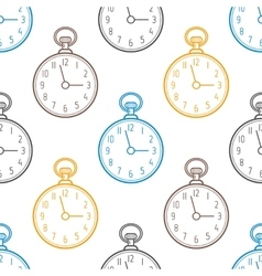 Pocket watch Seamless pattern with clocks on vector image vector image