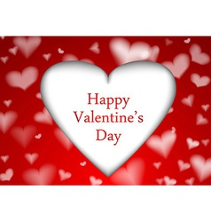 Red valentine background template vector image vector image