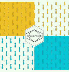 Seamless pattern with tie vector