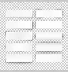 set of 10 bended white paper banners vector image vector image