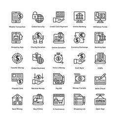 shopping colored icons set 3 vector image vector image