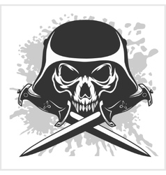 Skull and cross swords vector image vector image