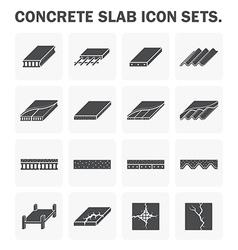 Slab icon vector