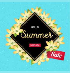 summer flowers banner or poster for holiday sales vector image vector image