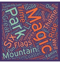 The magic of magic mountain text background vector
