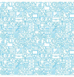 Thin line business office white seamless pattern vector