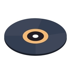 Vinyl record isometric 3d icon vector image