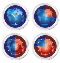 world time vector image