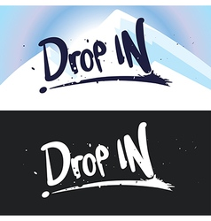 Lettering drop in vector