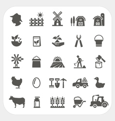 Farm and agriculture icons set vector image