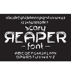 Hand made scribble font scary reaper vector
