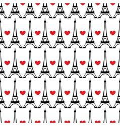 Seamless paris pattern vector