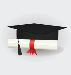 graduated cap vector image
