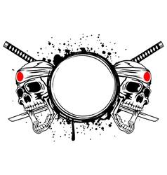 skull kamikaze vector image