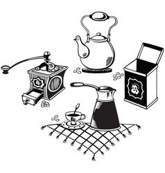 coffee collection vector image