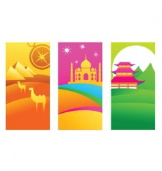 Travel destinations vector