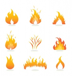 Flame icons vector