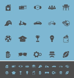Normal gentleman color icons on blue background vector