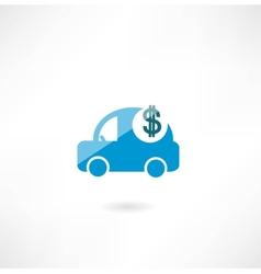 Car with dollar icon vector
