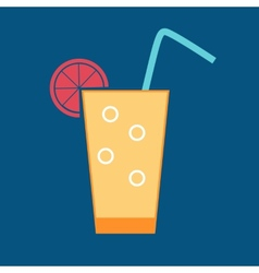 Drink glossy icon vector