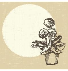 postcard with gerberas vector image
