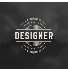 Designer design element in vintage style vector