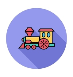Train toy vector