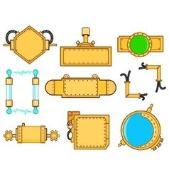 steampunk set vector image