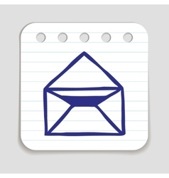 Doodle email icon vector