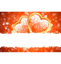 Grungy valentines day card vector