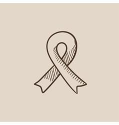 Ribbon sketch icon vector