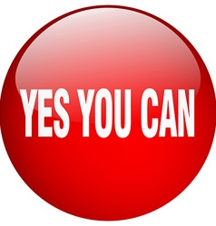 Yes you can red round gel isolated push button vector