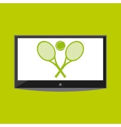 Tv ball and racket icon tennis design vector