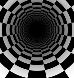 Abstract chess tunnel background vector image vector image