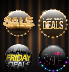 Black friday sale banner set for promotion vector
