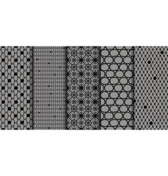 Black seamless patterns vector