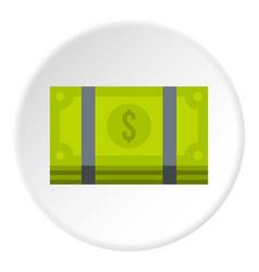 bundle of money icon circle vector image