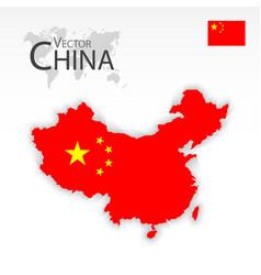 china map and flag vector image