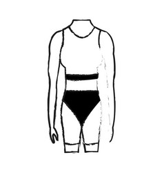 female torso fit body icon image vector image vector image