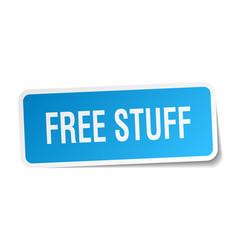 Free stuff square sticker on white vector