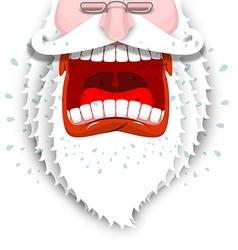 Furious Santa Claus Anger Santa with big white vector image vector image