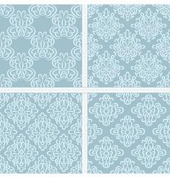Green summer ethnic pattern set vector image vector image