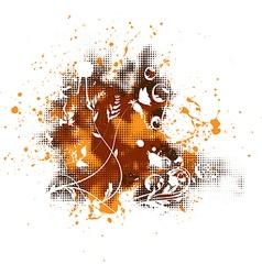 Grunge floral elements vector image vector image