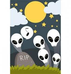 Halloween graveyard vector image vector image