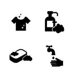 hygiene simple related icons vector image vector image