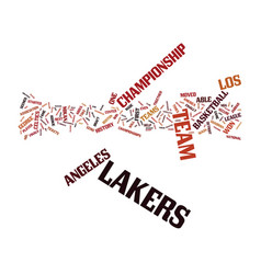 los angeles lakers history text background word vector image vector image