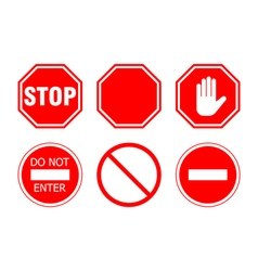 Stop sign set vector